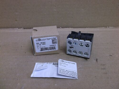 300-MFA31 C3Controls NEW In Box Contactor Top Mount Auxiliary Contact 3-NO 1-NC