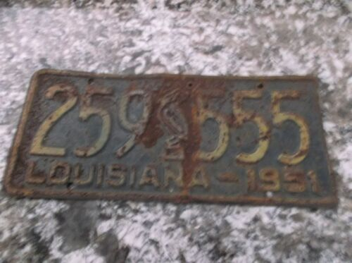 1951 LOUISIANA LICENSE PLATE 259 555