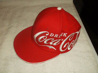 Coca Cola Large Logo Embroidered Snapback Soda Drink Cap Hat