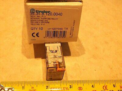 Finder 55.34.8.120.0040 Relay 120vac 7a 250vac