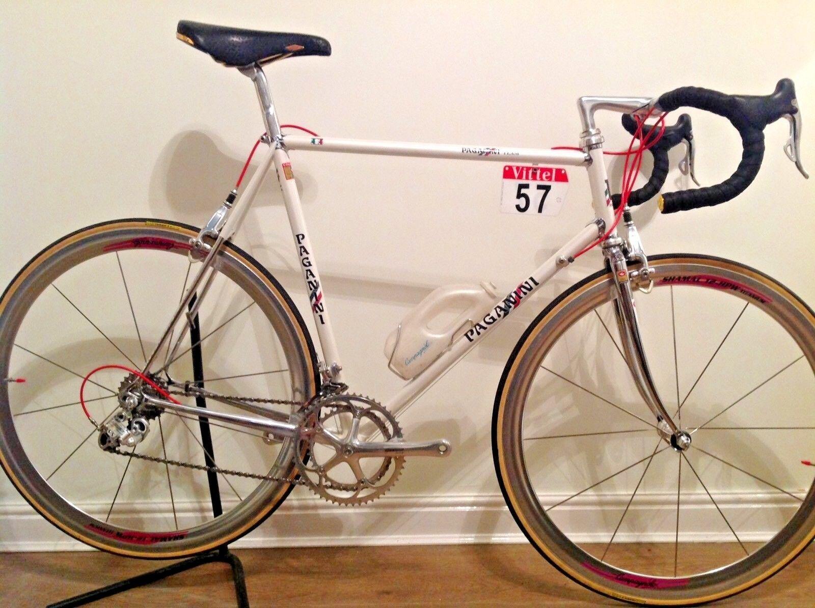 "Stunning 1987 Team Paganini Steel Racing Bike Columbas SLX Campagnolo record 58"""