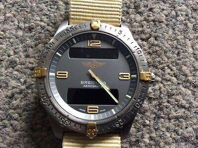 Breitling Aerospace Navitimer Titanium Watch Rare Model 56062 Gift Flight Sports