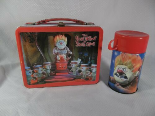 Vintage NECA Year Without A Santa Claus Metal Lunch Box and Thermos Heat Miser