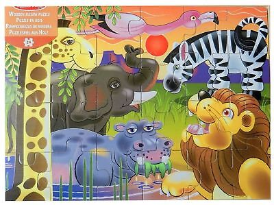 AFRICAN PLAINS WOODEN JIGSAW PUZZLE BY MELISSA & DOUG - 12937