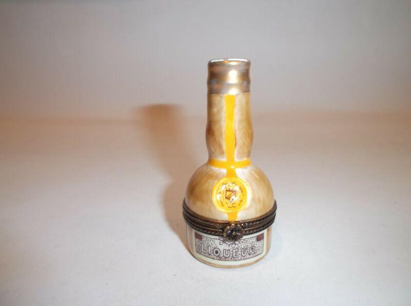 Peint Main Limoges Trinket-Liqueur Bottle