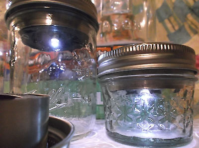 1 NEW SOLAR LED LIDS, Solar Lights For Mason Jar, FRUIT JARS,Ball Jars, Canning