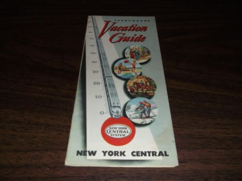 APRIL 1949 NEW YORK CENTRAL NEW YORK VACATION GUIDE BROCHURE