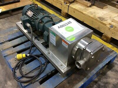 Apv R3 Stainless Steel Positive Displacement Pump 5hp With 515 Ratio Reducer