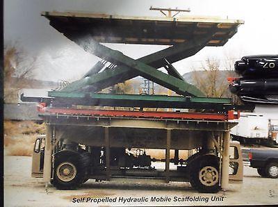Hydraulic Scissor Lift Table-self Propelled Hydraulic Mobile Scaffolding Unit