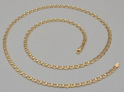 14k Solid Yellow Gold Mariner Link Chain Necklace 23.25 Inches 13.1 Grams