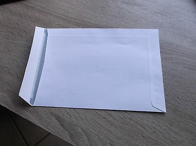 100 Versandtaschen/Briefumschläge C5/A5 weiß  ohne Fenster 162x229 mm