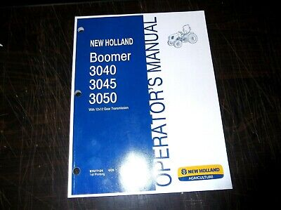 New Holland Boomer 3040 3045 3050 Tractor Operators Manual