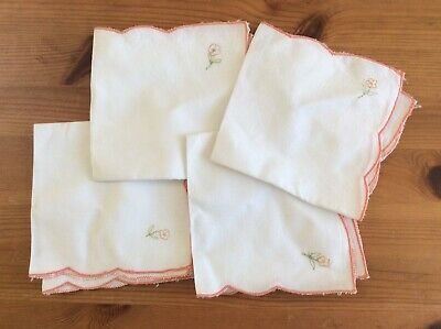 Pretty Vintage Napkins- Set Of 4