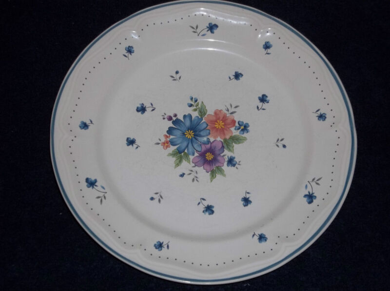 "PROVINCIAL BOUQUET 1987 JMP MARKETING 10 3/4"" STONEWARE DINNER PLATE."