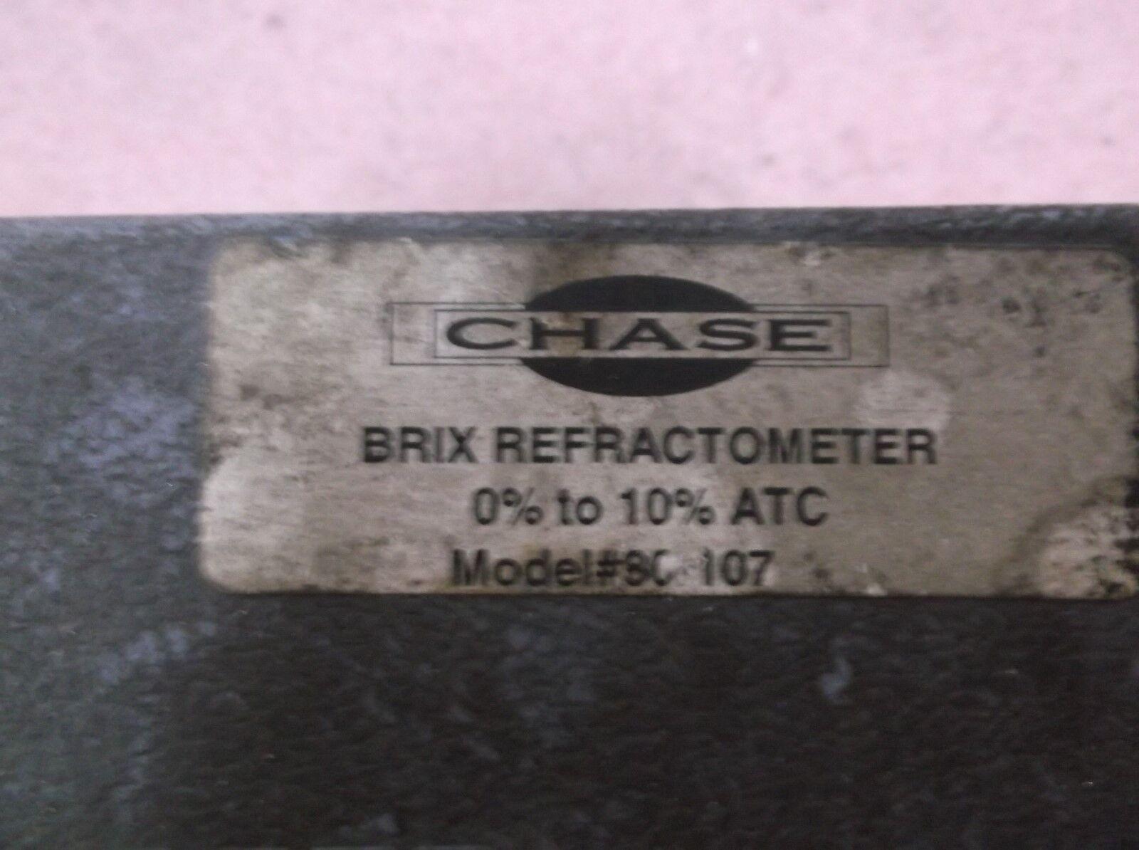 CHASE 80-107 HANDHELD BRIX REFRACTOMETER BRIX 0-10 ATC 1