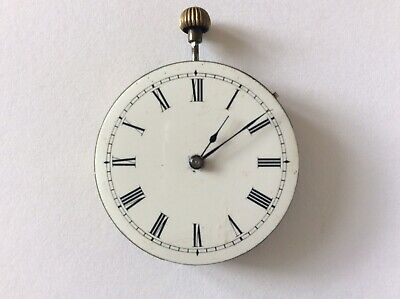Vintage Pocket Watch Movement With Stem And Crown Spares Or Repair