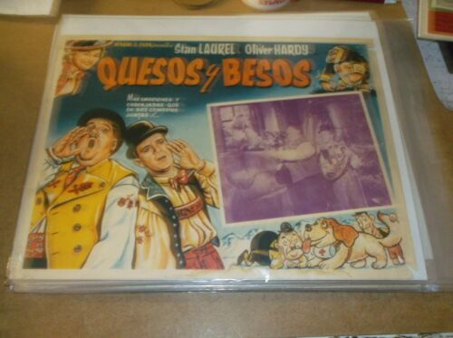 "SWISS MISS(1938)LAUREL & HARDY ORIGINAL MEXICAN LOBBY CARD 12""BY16"" NICE!"