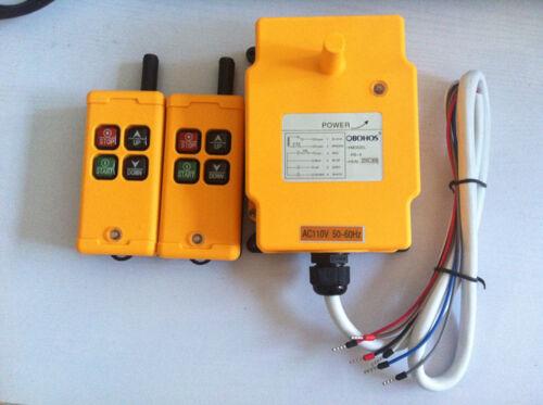 12-415V 2 Transmitters 4 Channels Industrial Wireless Crane Hoist Remote Control