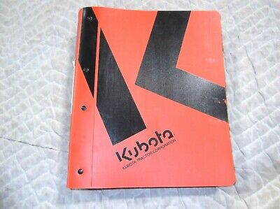Original Kubota M59 Tractor Tl1350 Loader Bt1200 Backhoe Service Manual