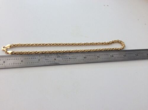 """Itaor Italy Designer Gold Vermeil Sterling Byzantine 17"""" Chain Necklace New"""