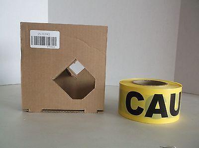 NEW BT2058DB INCOM Barricade Tape w/Disp, Yellow/Blk, 1000 ft (I36T)