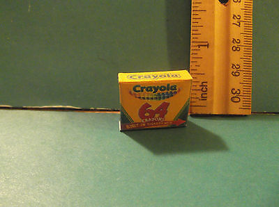 Barbie 1:6 Kelly Tommy School Miniature Box of Crayons aa