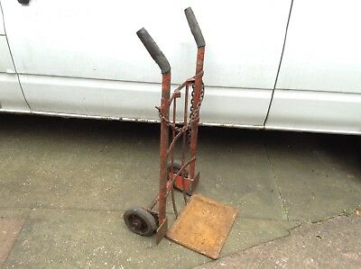 Old Vintage Antique Sack Barrow Trolley Industrial Architectural