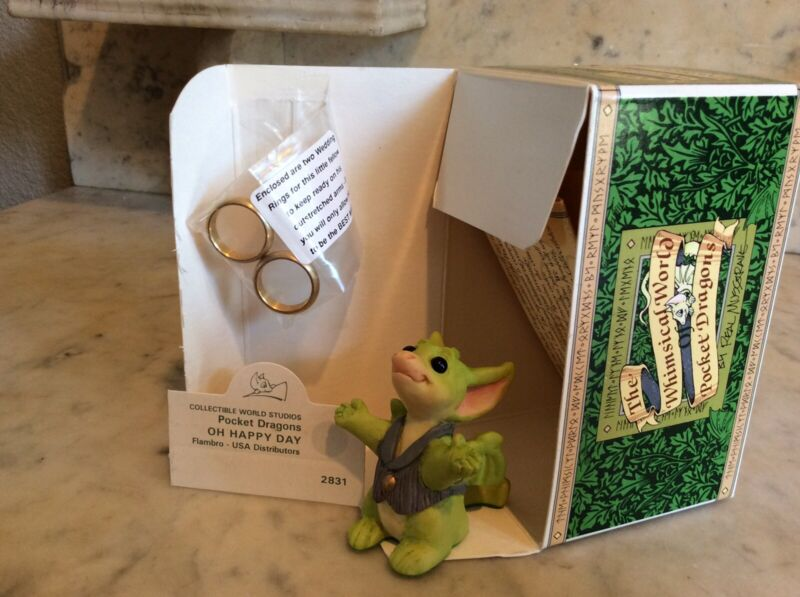 Pocket Dragons:  Oh Happy Day:  Mint Condition:  Wedding Rings Included
