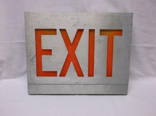Vintage Miller Exit Sign Electric