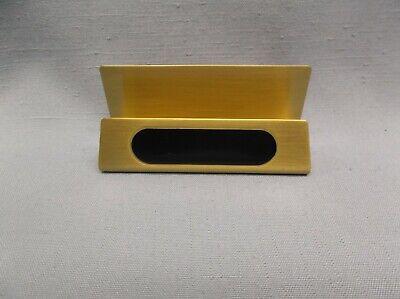 Brass Black Business Card Holder Desk Accessory Desktop B35 Jds Boxed
