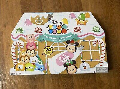 Disney Tsum Tsums Countdown to Christmas Advent Calendar 31 Pcs 2016 New Sealed
