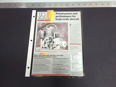 VINTAGE US ENGINES LARGE SCALE 4-STROKE R/C PLANE ENGINE BROCHURE *G-COND* for sale  Shipping to Canada