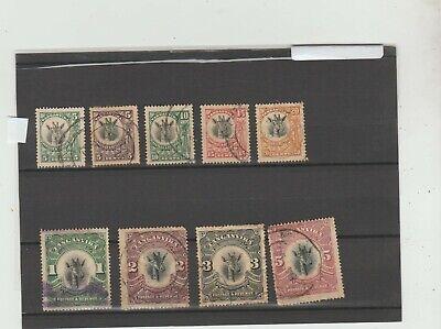 Tanganyika 1923-25  selecton of issues  Used    5/- damaged