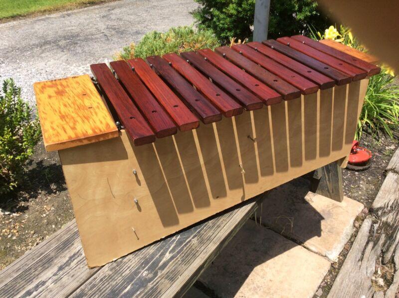 "Suzuki Japan Wood 34"" Long Xylophone W / 13 Bars - Good"