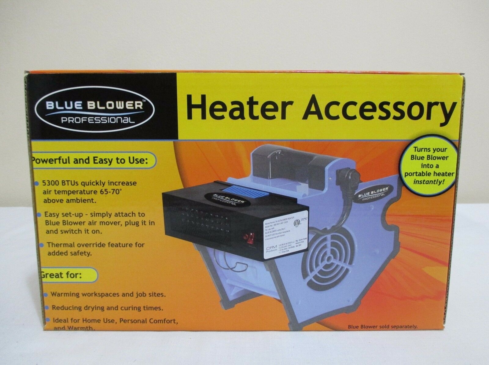NEW BLUE BLOWER PROFESSIONAL HEATER ACCESSORY ATTACHMENT FIT