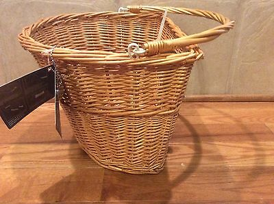 NWT Bell Tote 700 Quick Release Brown Wicker Handlebar Bicycle Basket