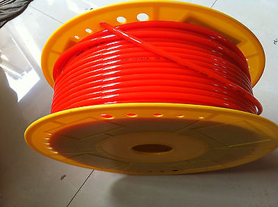Tube Pu Pneumatic Hose 4mm X 6mm For Pneumatics 25meter Red Color