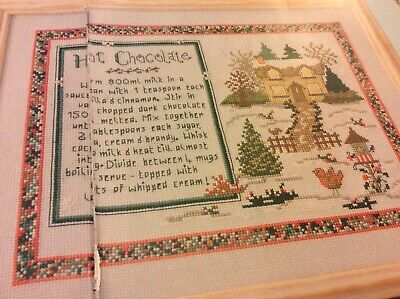 Hot Chocolate Recipe Sampler Pattern Cross stitch chart Only (894) for sale  Shipping to South Africa
