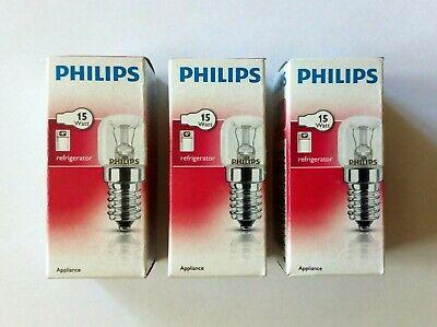 3x Philips Appliance Glühbirne Kühlschrankbirne Glühlampe Klar E14 15W T25 CL