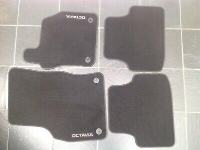Skoda Octavia MK3 2013 Onwards Tailored Carpet Car Floor Mats with logo 4 Clips