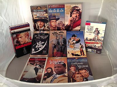 Lot Classic VHS Movies Peck, Gable, Poitier, Redford, Astaire, & Stewart