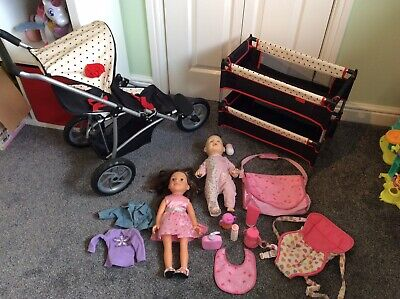 Mamas And Papas Pram And Cot Bundle With Interactive Baby Annabelle EXCELLENT CO