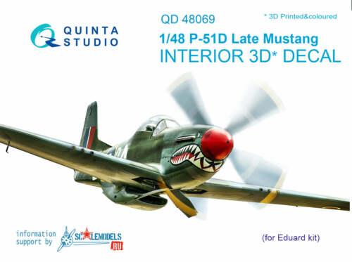 Quinta Studio QD48069 1/48 P-51D (late) Mustang Interior Set w/free shipping