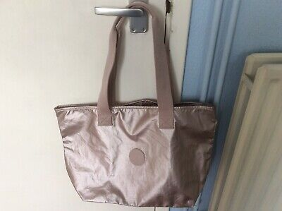KIPLING CONGRATZ SHOPPER BAG METALLIC ROSE