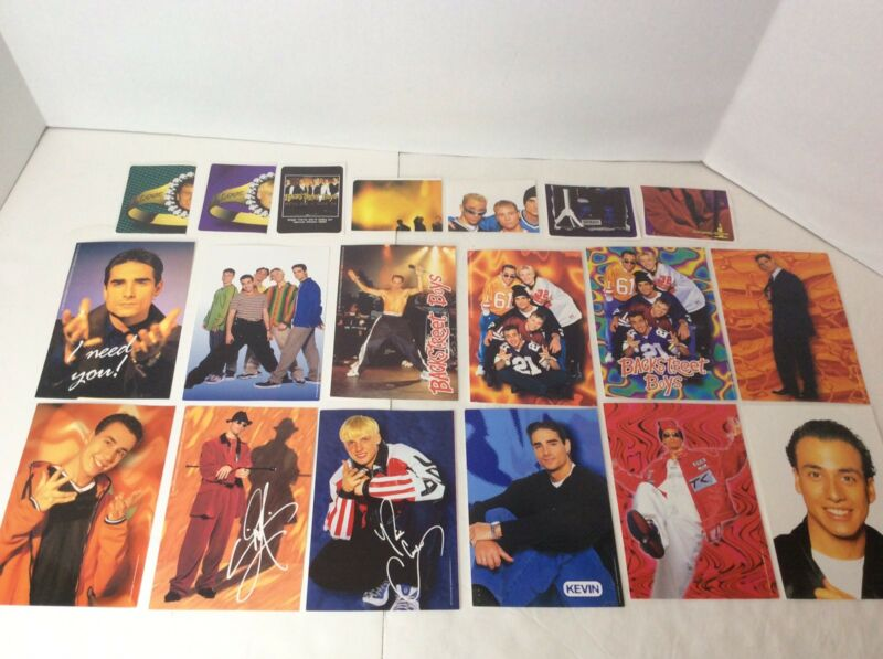 1997 Backstreet Boys Productions 12 Photo Cards 7 Stickers Fan Lot Nick Carter