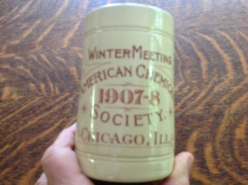 1907-08 Stoneware Mug American Chemical Society, Chicago, Ill.