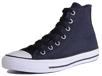 CONVERSE mens womens high trainers sneakers shoes navv 7 all stars chuck...