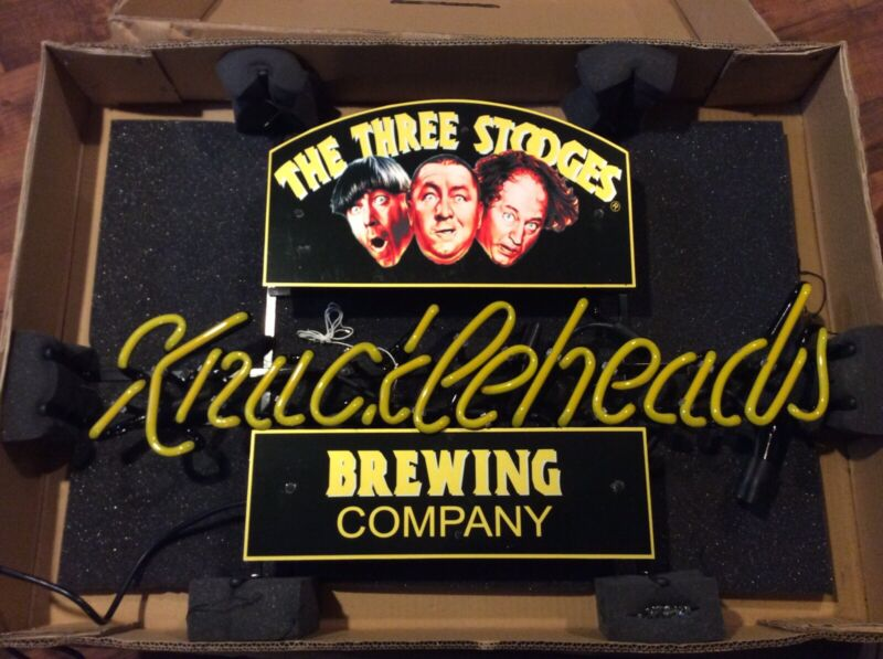 Three Stooges Brewing Company Knuckleheads Neon Lighted Sign