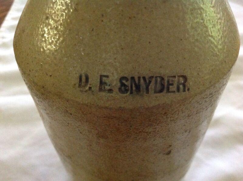 D. E. Snyder Vintage 1800