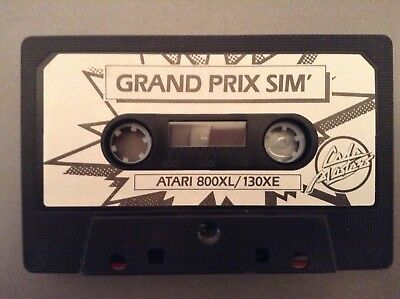 ATARI 800XL 130XE GRAND PRIX SIMULATOR BY CODEMASTERS CASSETTE ONLY